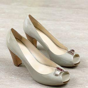 Coach Helaine Peeptoe Heels Pump Shoes